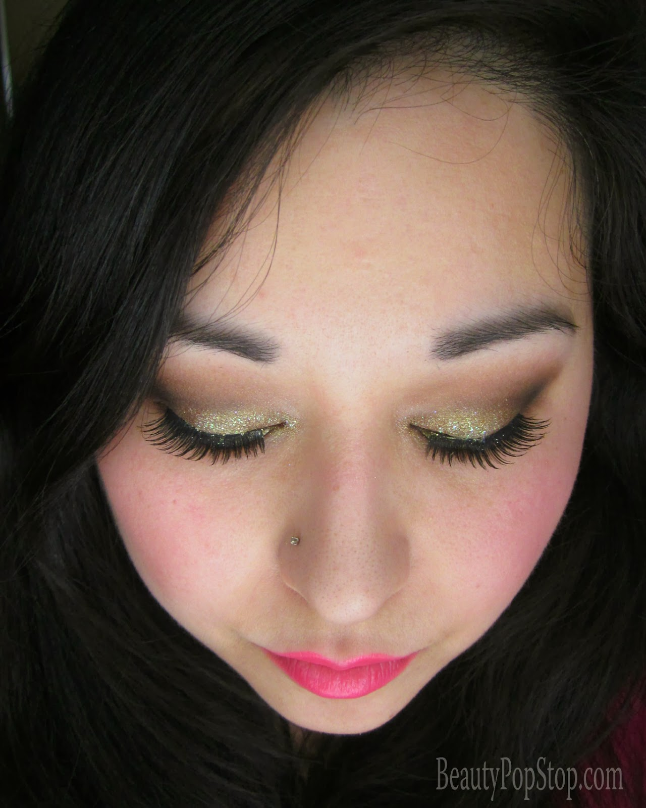 valentine's day makeup tutorial using mac cosmetics and lit cosmetics glitter