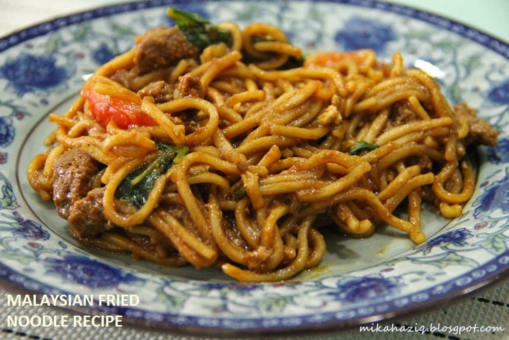mikahaziq: Malaysian Fried Noodle Recipe / Resepi Mee Goreng Simple