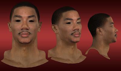 NBA 2K13 Derrick Rose Cyberface Patch