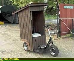 porta potty attached to bicycle