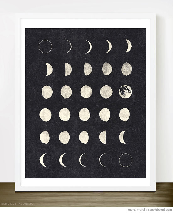Great Love You To The Moon And Back wall art print by Lil Mate Studio