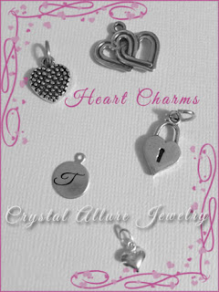 Sterling Silver Heart Charms -Crystal Allure Jewelry Creations