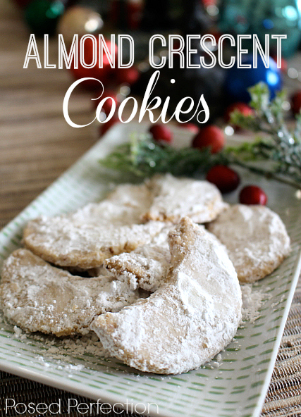 These delicate, delicious Almond Crescent Cookies will be the favorite at the holiday cookie exchange!