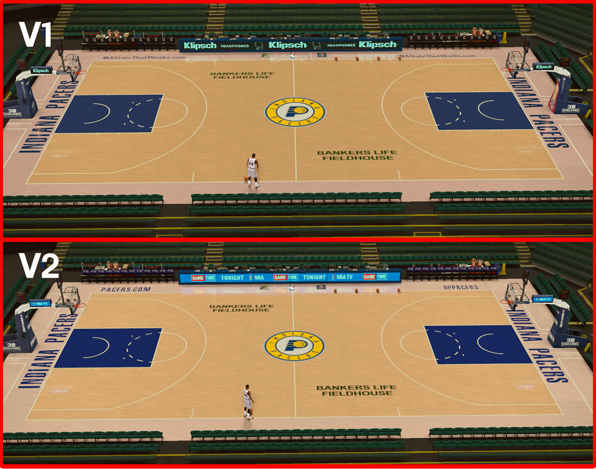 NBA2K Court Mod - Bankers Life Fieldhouse Arena