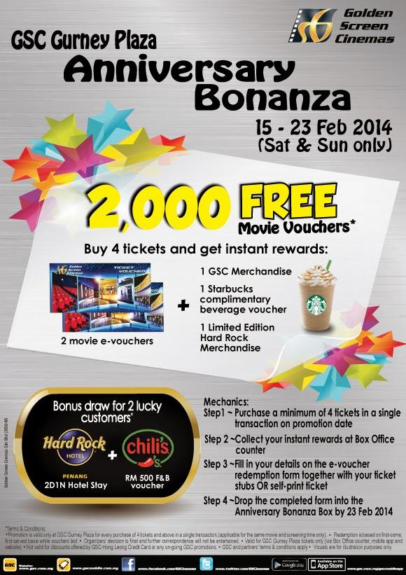 GSC Gurney Plaza Anniversary Bonanza