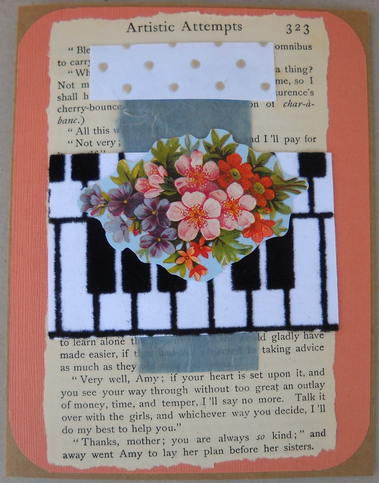 Janette Fuller Collage Greeting Cards From Old Book Pages