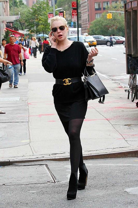Lindsay Lohan - Impressive Leggy Candids in New York