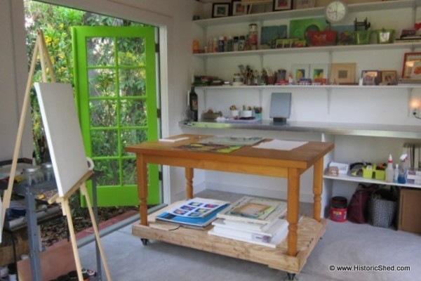Shedworking sunny artist 39 s studio for Art studio plans