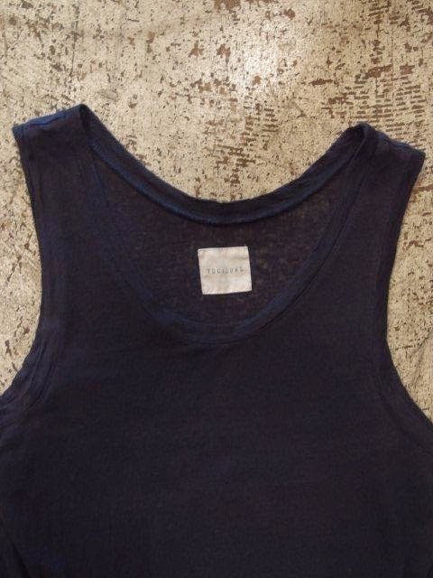 TOUJOURS Over Sized Short Sleeve T-Shirt & Tank-top in Navy - Pure Linen Plain Jersey Spring/Summer 2014 SUNRISE MARKET