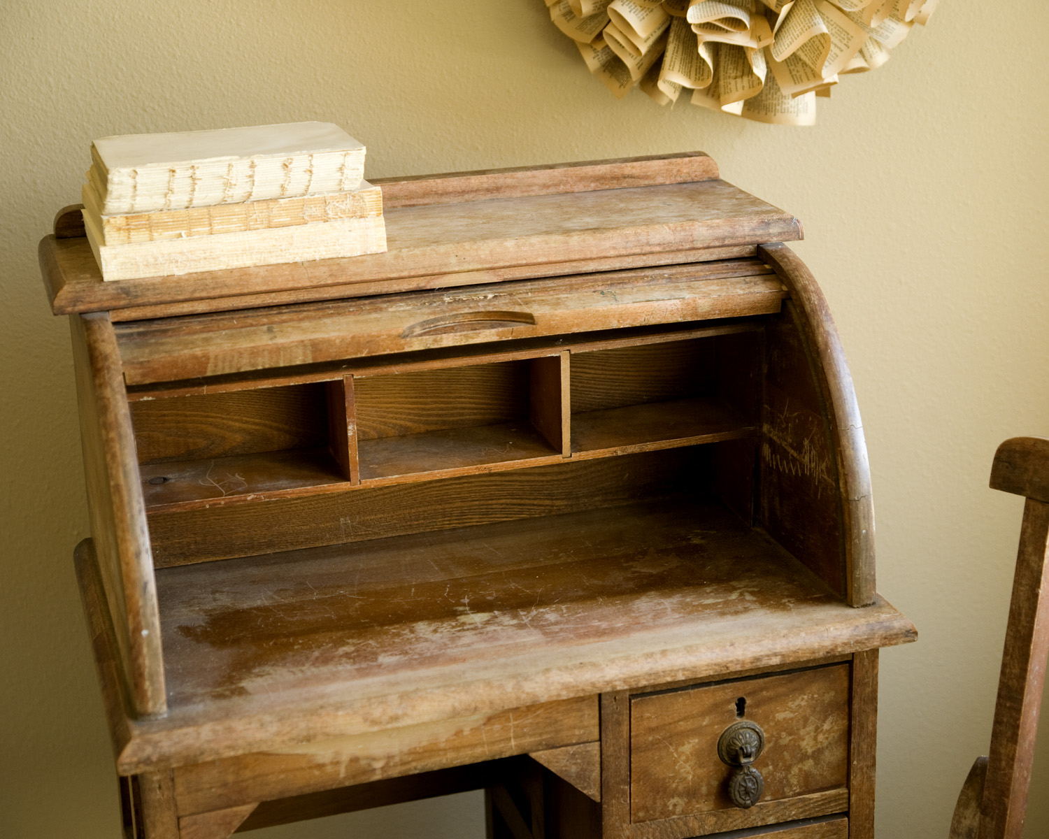 Sold Antique Child S Roll Top Desk And Chair Alice And