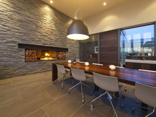 Casas minimalistas y modernas nuevos comedores vanguardistas - Iluminacion para comedores ...