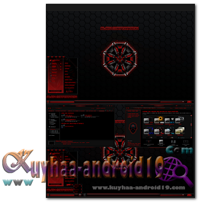 THEME WINDOWS 7 ALIEN CORP RED