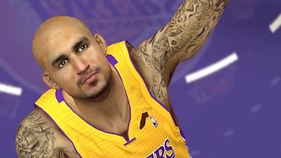 NBA 2K14 Robert Sacre Cyberface Patch