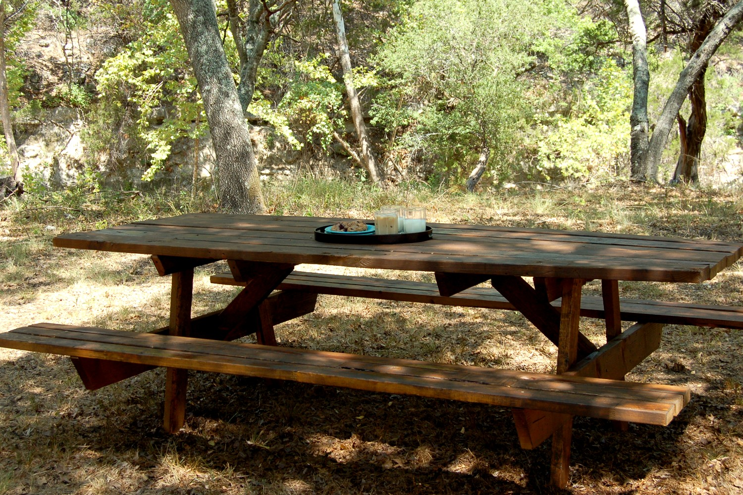Scrap Wood Picnic Table - Scattered Thoughts of a Crafty Mom