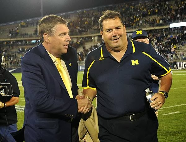 Brady Hoke is in charge of Michigan football, and not AD Dave Brandon. Because Brady Hoke said so.