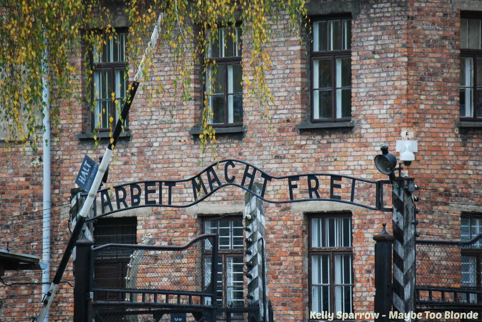 Auschwitz concentration camp gates