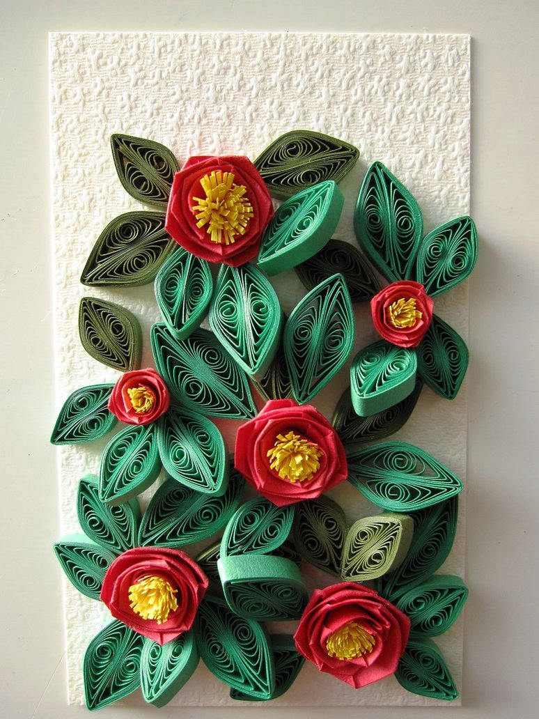 Quilled picture frame ideas craft art ideas for Quilling craft ideas