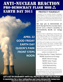 April 22 Earth Day, Queen's Park Toronto, Noon.