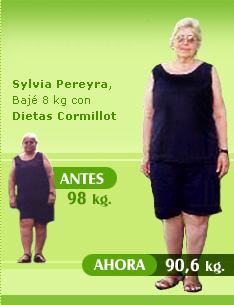 bajar 8 kilos 98 kilos 90 kilos dieta cormillot casos de exito