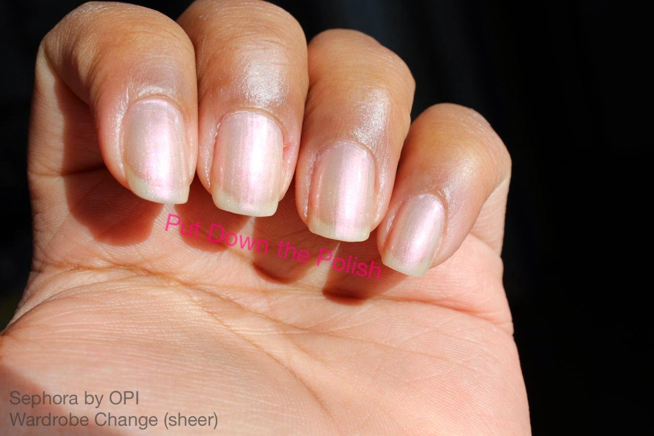 sephora by opi wardrobe change