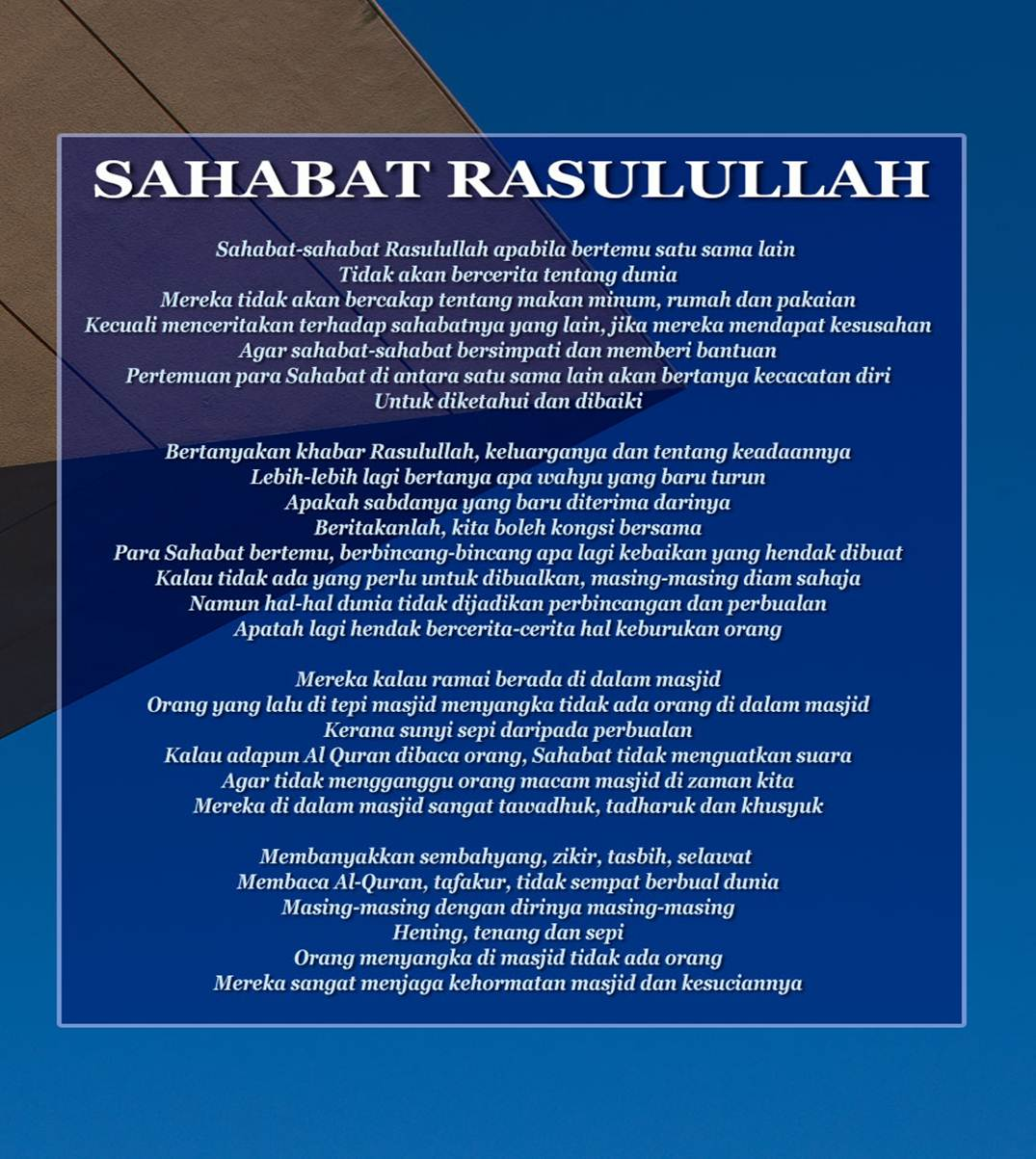 Masa Khalifah Abu Bakr As Siddiq Clinic