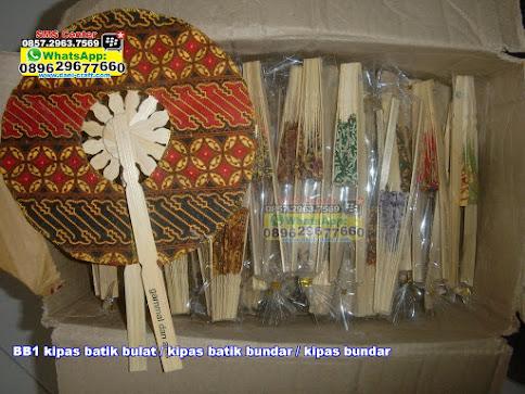 kipas batik bulat / kipas batik bundar / kipas bundar jual