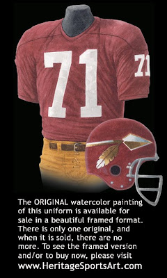 Washington Redskins 1966 uniform
