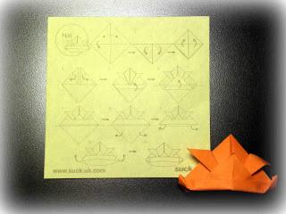 hat  kabuto origami