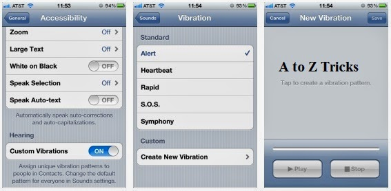 custom vibration in iphone 5,iphone 4