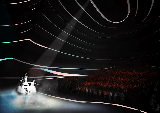 Rendering showing performance in the stage of new opera house in Busan