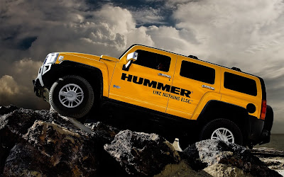 Hummer Yellow Car