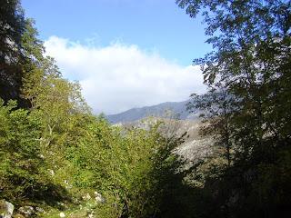 Foces del río Infierno, panorámica desde la ruta