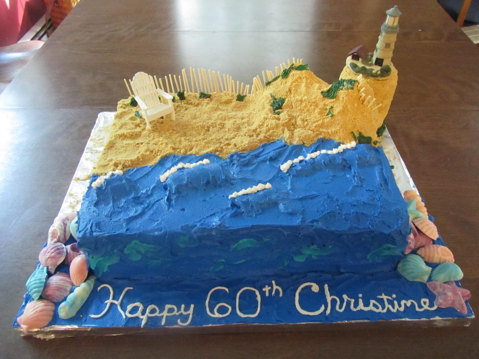 Mom Loves To Cook Beach Ocean Birthday Cake