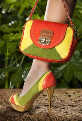 zapatos y bolsos Maya Hansen para Fosco colores fluor