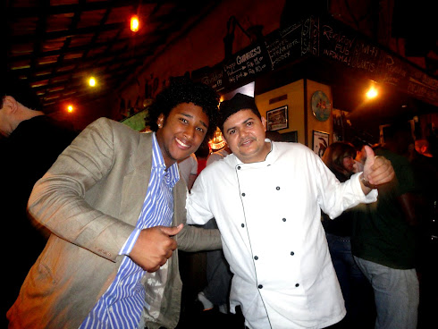 Vitor Lucas e o chefe de cozinha  Chico