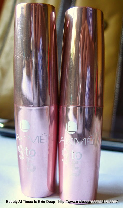 Lakme 9to5 matte Lipsticks B2 Oak Table and M3 Mauve Paced