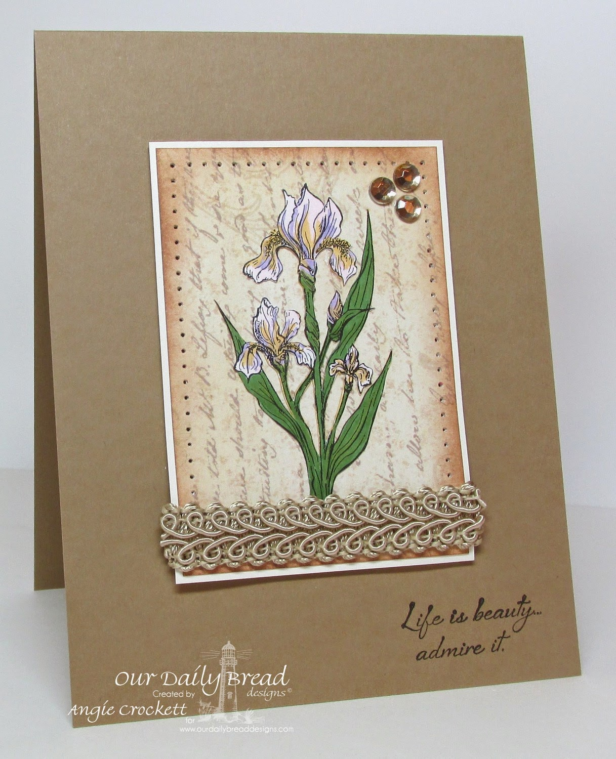 ODBD Iris, Blushing Rose Designer Paper Collection, Card Designer Angie Crockett