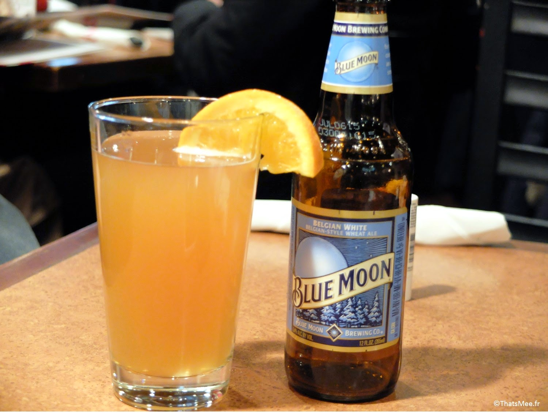 TGI Fridays restaurant américain US  bière Blue moon
