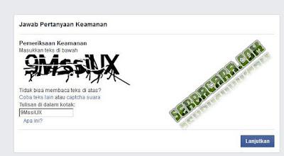 Kode Captcha Facebook