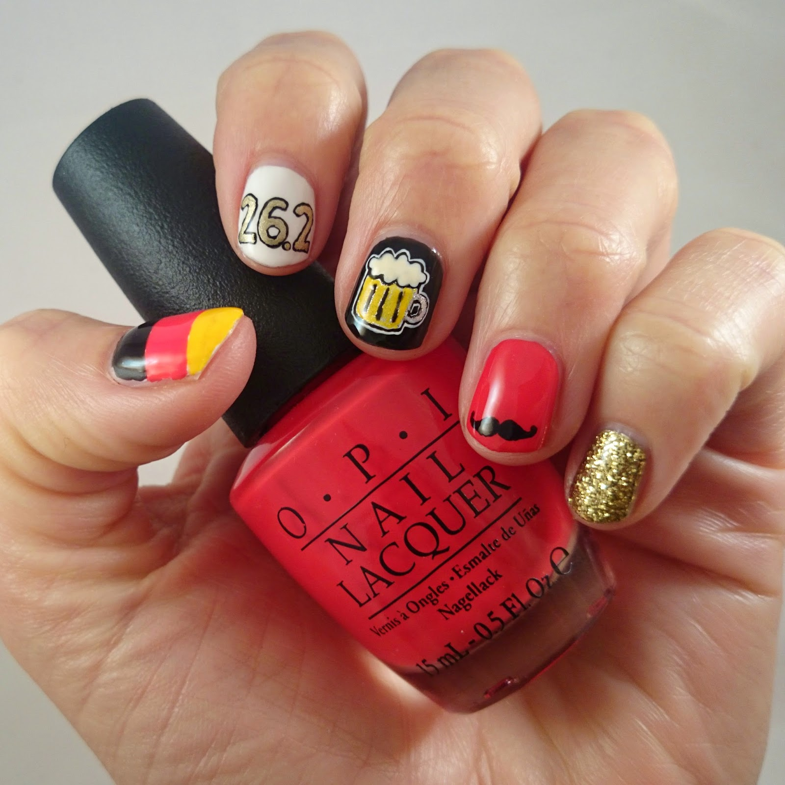 Some German Themed Nails