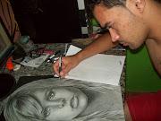 O Artista em sua criação! Clique na Imagem para ampliar