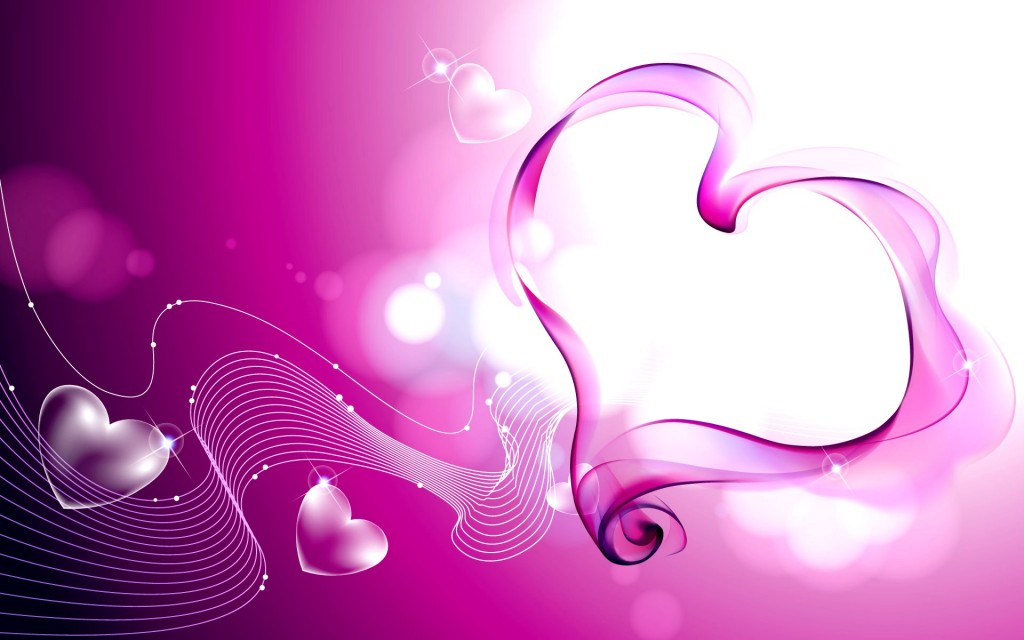 wallpapers purple hearts pink - photo #16