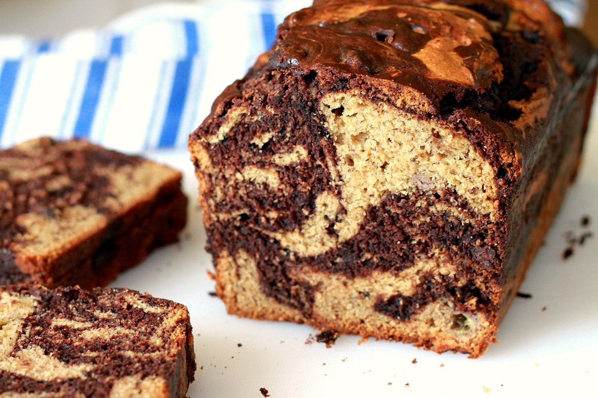 Chocolate-Swirled Peanut Butter Banana Bread | Shauna ...