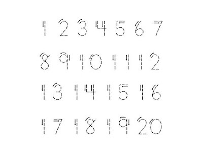 latihan menyambung angka