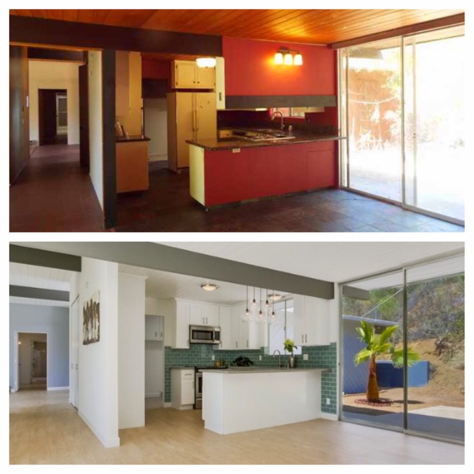 Transformation Tuesday: Mid-Century Modern Home Before & After | San on