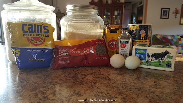 Chocolate Chip Coffee Cookie Ingredients