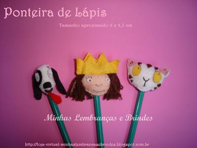 ponteira-de-lápis-feltro-princesinha-lembrancinha-brinde-aniversário-festa-infantil