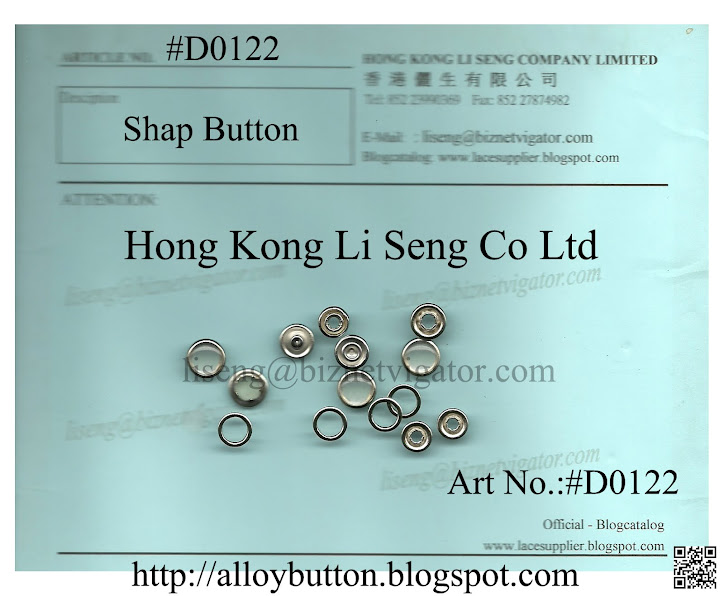 Shap Button Supplier - Hong Kong Li Seng Co Ltd