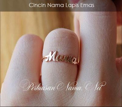 Cincin Nama Lapis Emas