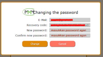 menu mengubah password
